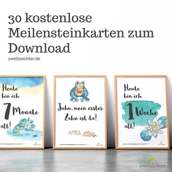 30 kostenlose Meilensteinkarten zum Download und Selbstausdrucken