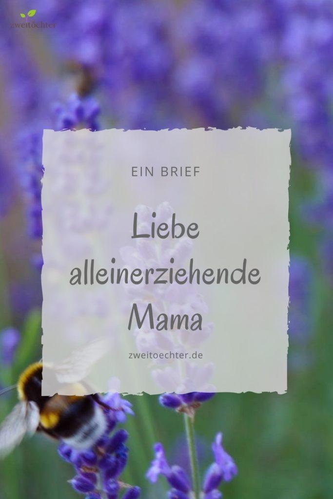 Liebe alleinerziehende Mama. Ich habe Dir einen Brief geschrieben. - zweitöchter