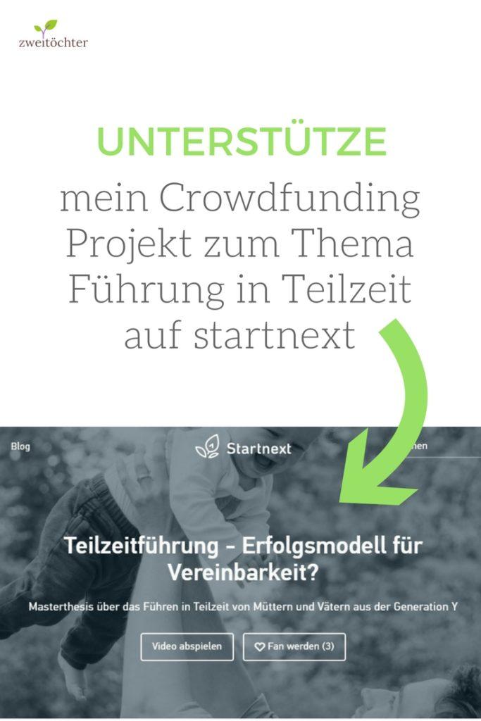Unterstütze mein Crowdfunding-Projekt zum Thema Führung in Teilzeit auf startnext - zweitöchter