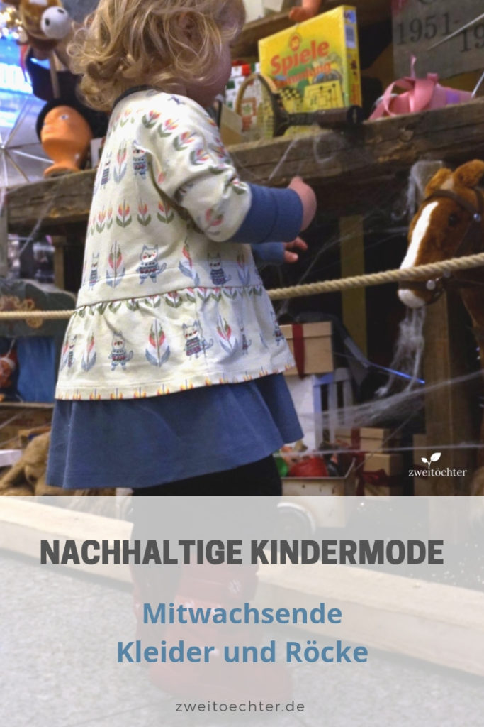Nachhaltige Kindermode: mitwachsende Kleider und Röcke - zweitöchter #nachhaltigkeit