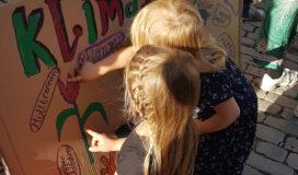 Umweltschutz geht schon die Kleinsten an. Klimastreik mit Kindern in Jena