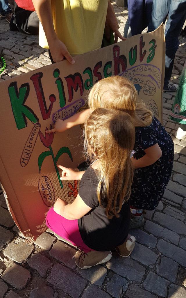 Umweltschutz und Klimaschutz: Plakat beim Klimastreik in Jena