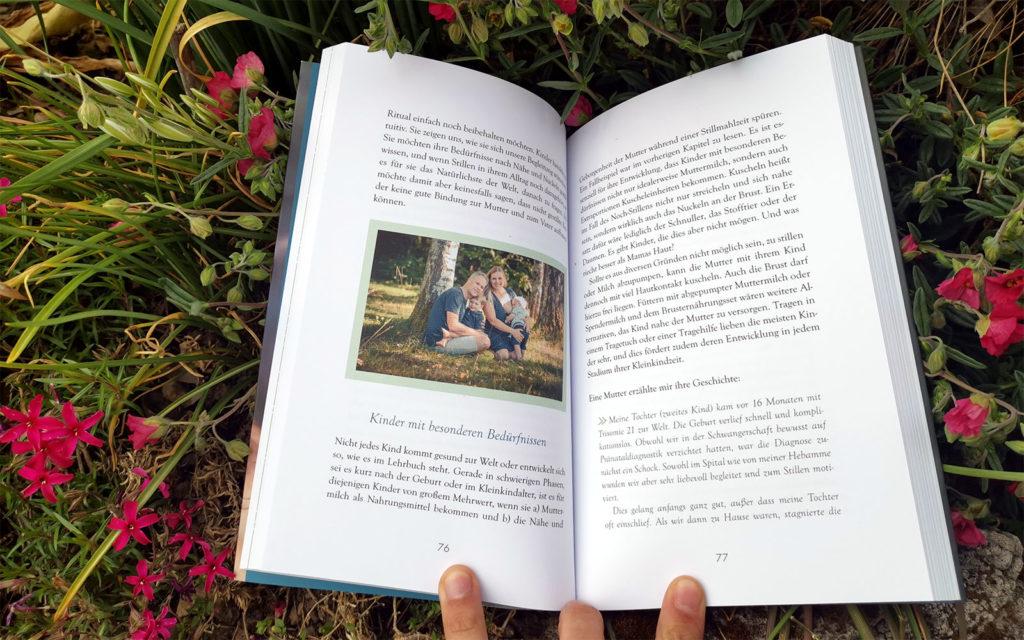 "Rezension Buch ""Langes Stillen"" Blick ins Buch"